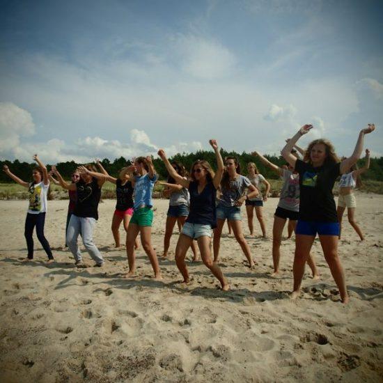 obóz taneczny nad morzem
